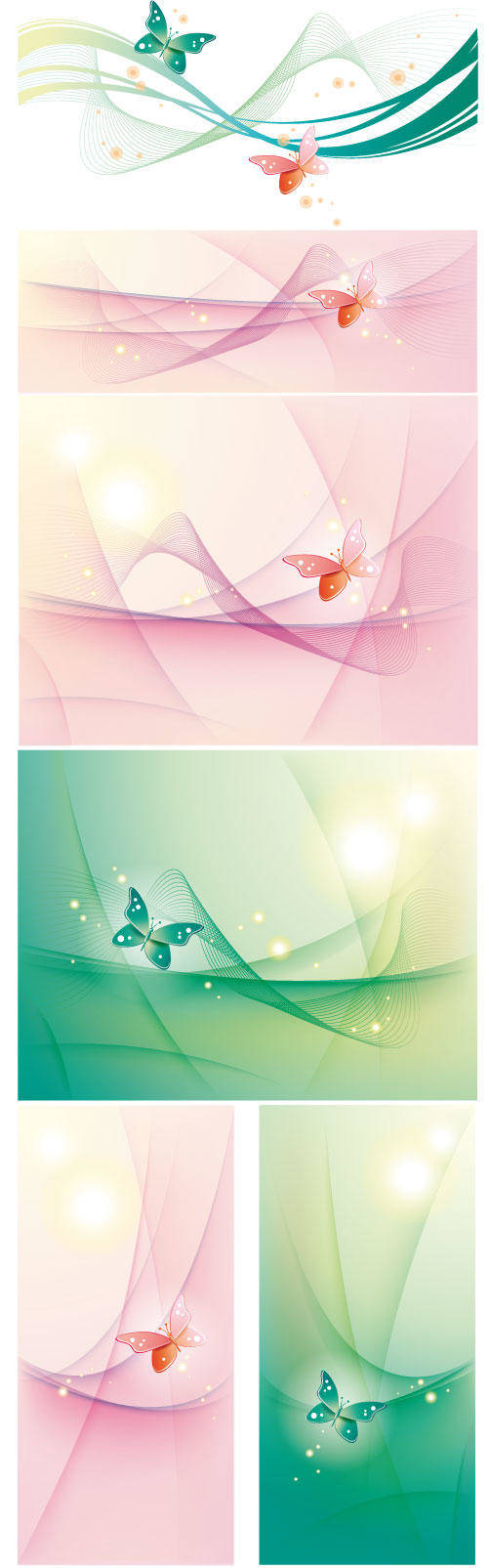 free vector Abstract background with butterfly