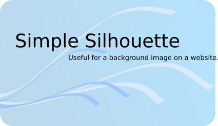free vector Simple Silhouette clip art
