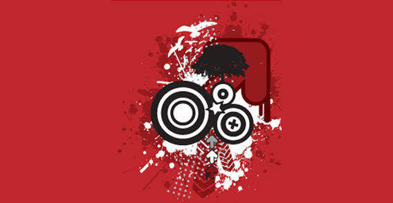 free vector Red grunge background free vector