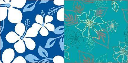 free vector Vector flowers background material and practical