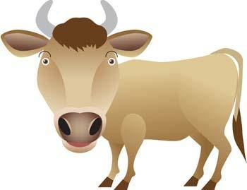 free vector Cow 16