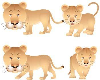free vector Lion 7