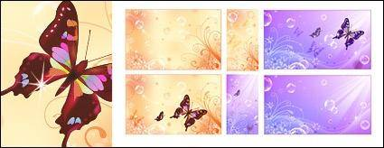 free vector Butterfly Dream flower bubble vector background material