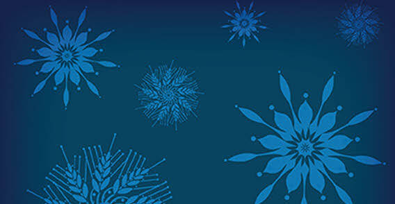 Holiday snowflakes free vector