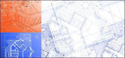 free vector Architectural drawings Vector material