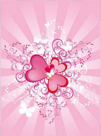 free vector Valentine hearts background