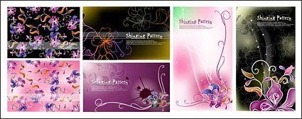 free vector Vector fantasy flowers background material