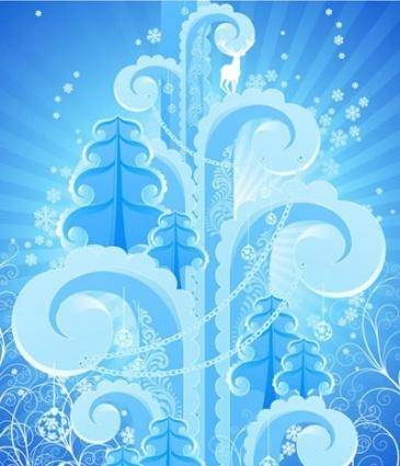free vector Abstract winter background