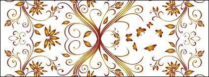 Vector gorgeous patterns background material