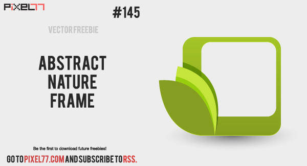 free vector Free Vector of the Day #145: Abstract Nature Frame