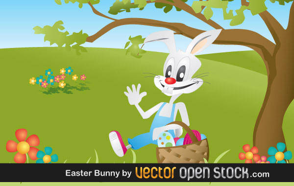 free vector Eater Bunny