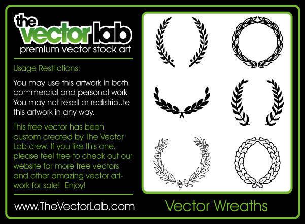 free vector Vector Wreaths