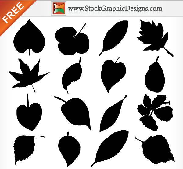free vector Leaf Silhouettes Free Vector Graphics