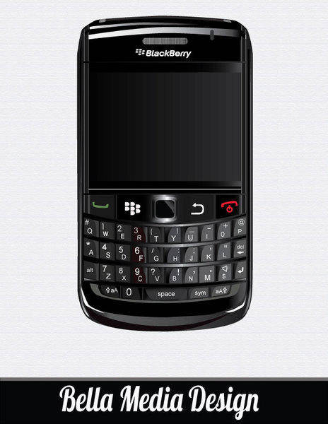 free vector BlackBerry Bold 9700