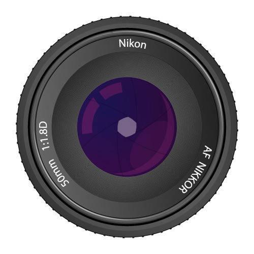 free vector Lens Vector Nikon AF NIKKOR 50mm f/1.8D