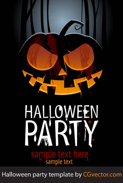 free vector Halloween Vector Party template