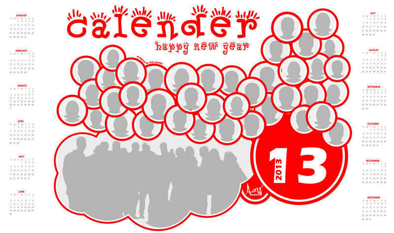 free vector 2013 Pictured Calendar Vector