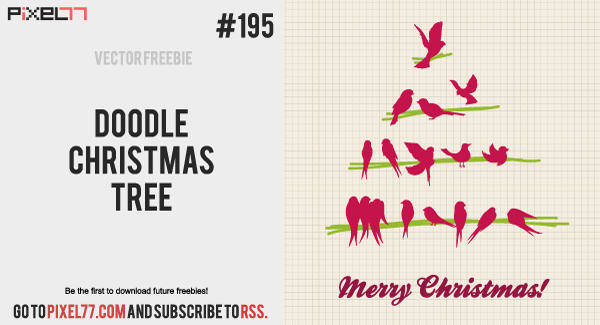 free vector Christmas Tree Vector - Doodle Christmas Tree