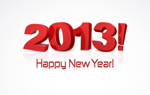 free vector Happy New Year 2013 Vector Typography