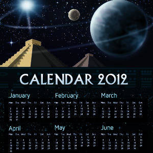 free vector Mayan 2012 Calendar
