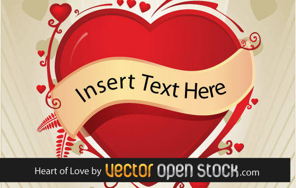 free vector Heart Vector and Background Vector