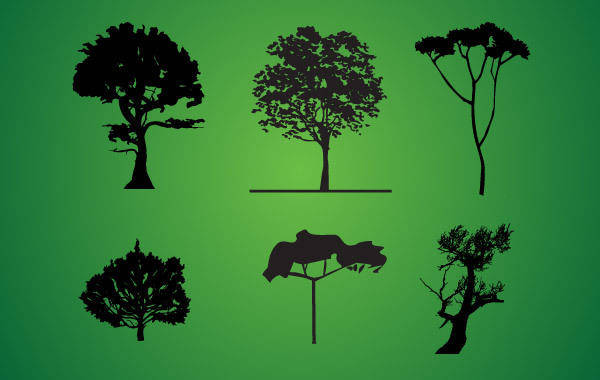 free vector Tree Silhouette Pack