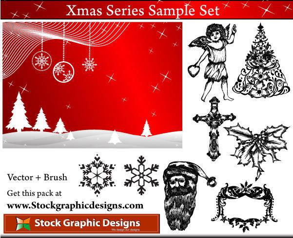 free vector Xmas Series Sample Set