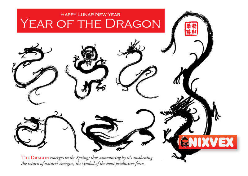 NixVex Dragon 01 Free Vector