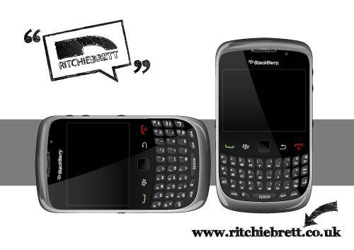 free vector Backberry curve 9300