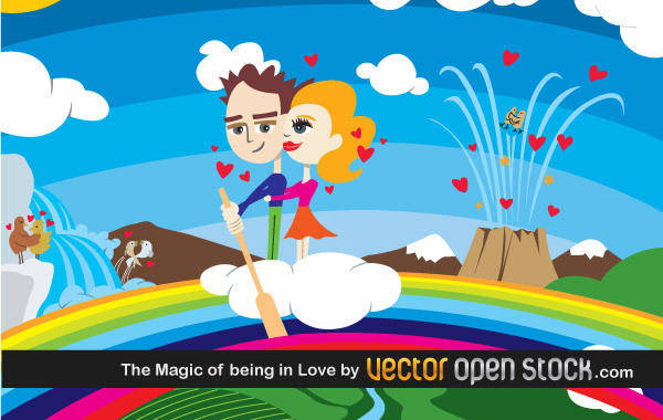 free vector The Magic of being in Love