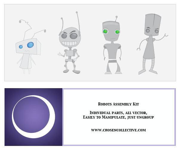 free vector Robot Vector Assembly Kit