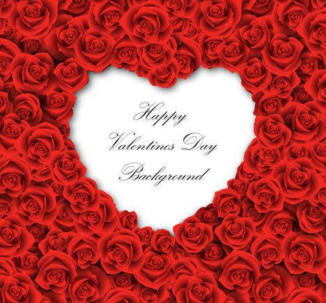 Vector Valentines Love Background