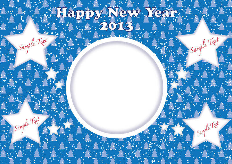 Happy New Year 2013 stars card