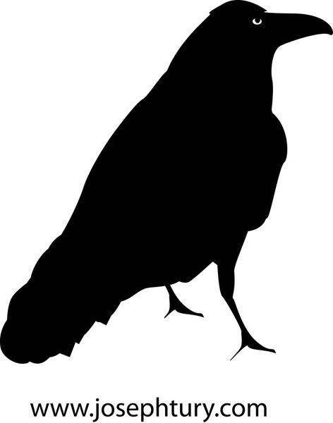 free vector Crow Silhouette Vector
