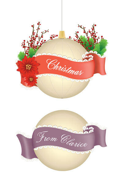 free vector Christmas and Lace