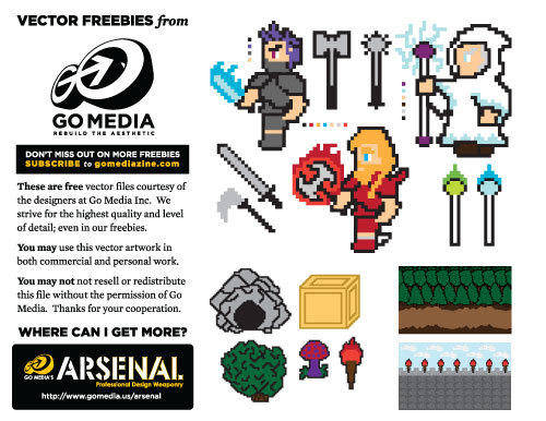 free vector 8-bit Vector Freebies
