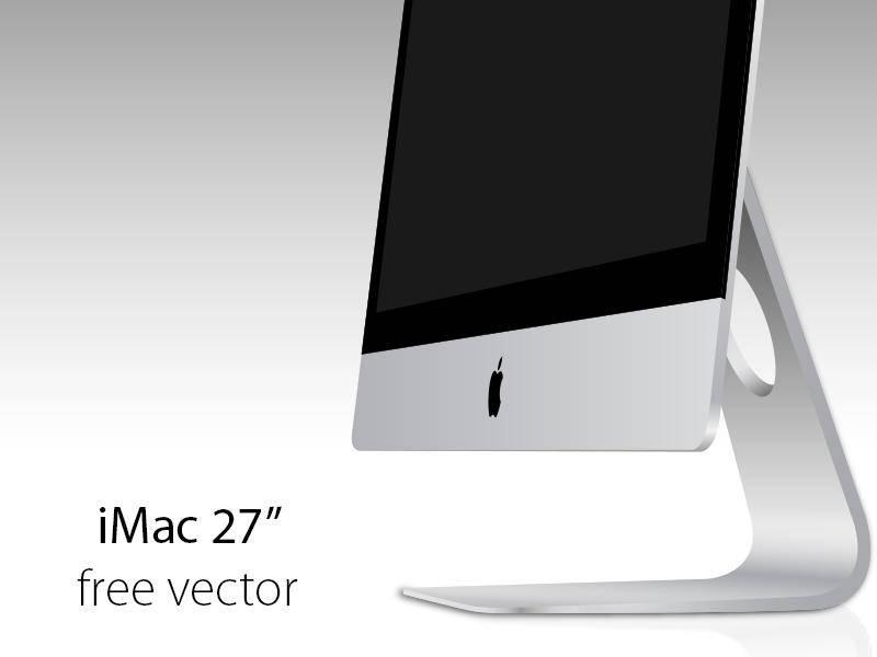 free vector Apple iMac 2012