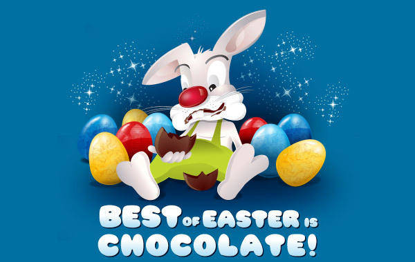 free vector Best of Easter is Chocolate