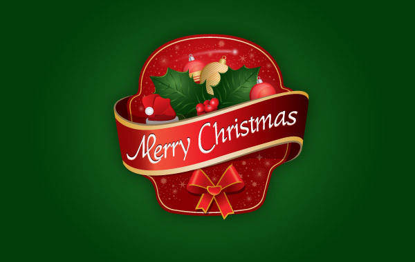 free vector Merry Christmas Label logo