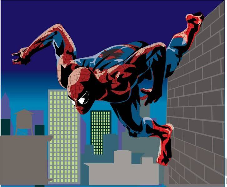 Spiderman Vector Night