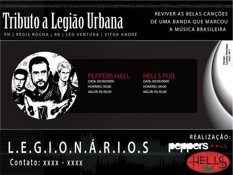 free vector Folder Show Legião Urbana Vector