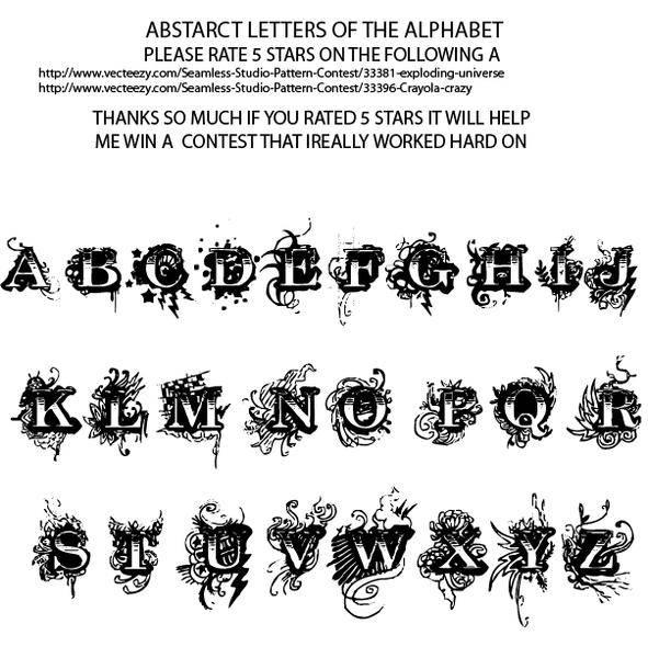 free vector KOOL APLHABET Vectors