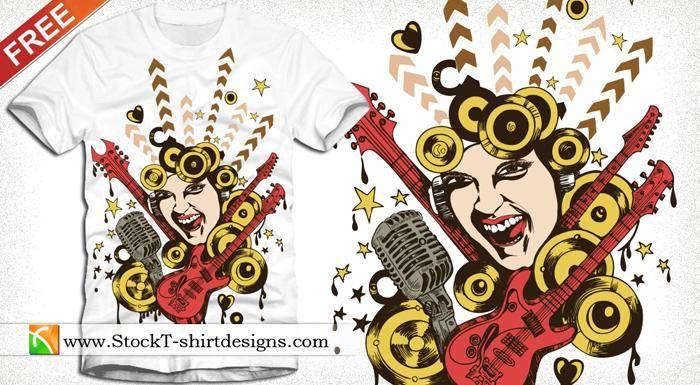 free vector Free Vector T-shirt Design-8