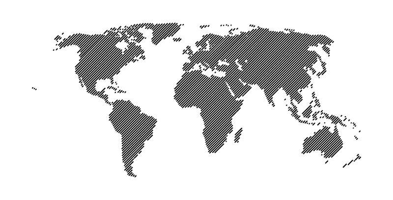 free vector World Map 45° Lines Vector