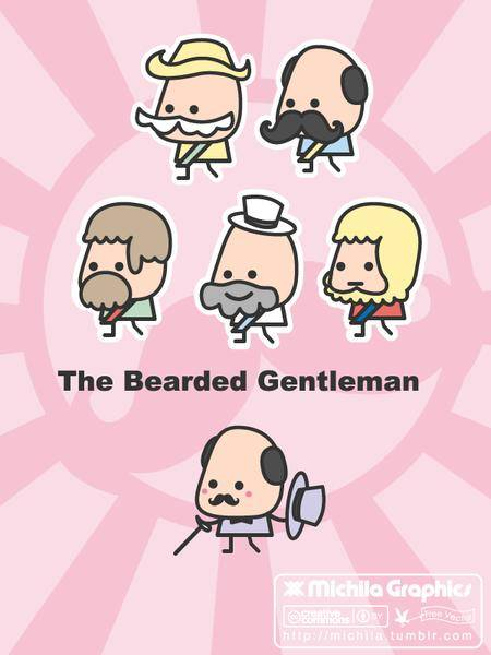 free vector The Bearded Gentleman Vectors