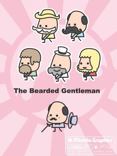 The Bearded Gentleman Vectors
