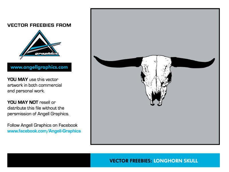 free vector Longhorn Skull Vector