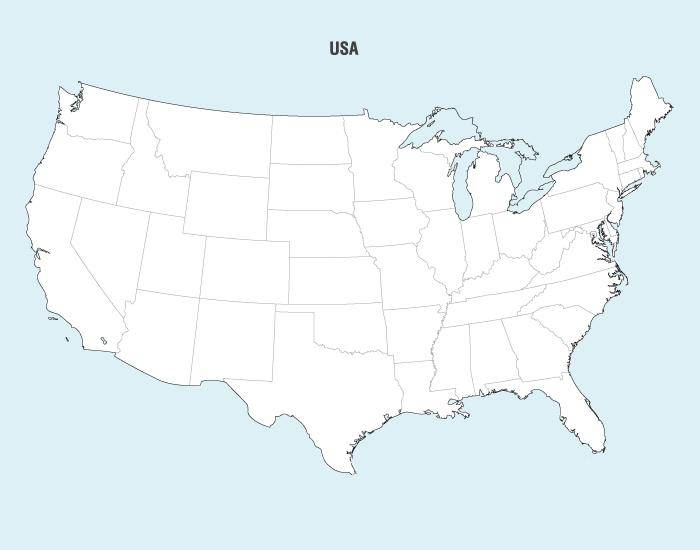 United States Map Vector 130560