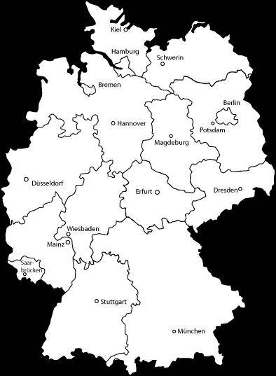 Deutschlandkarte - Germany Map Vector