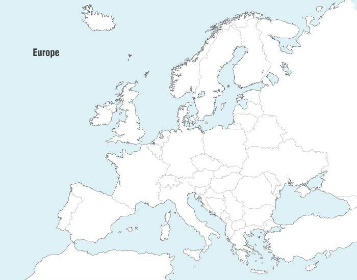 free vector Vector Maps of Europe